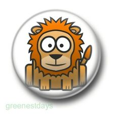 Cute Cartoon Lion 1 Inch / 25mm Pin Button Badge Lions Tigers Jungle Rawr Animal