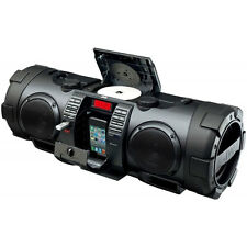 JVC 40W Portable Boombox CD Player, Lightning Dock, Bluetooth, Shoulder Strap