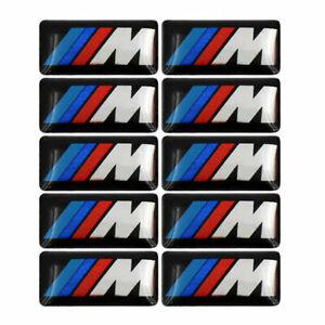 10 Pcs Set Fit For BMW M 3D Sticker Set Rims Wheels Badge Emblem