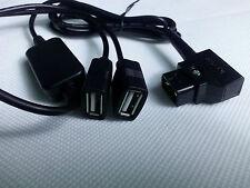 D-Tap plug to 2x USB socket anton bauer v-lock battery dslr idx power 5v-3amps