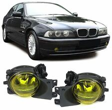YELLOW FOG LIGHTS & FITTING BRACKETS FOR BMW E39 5 SERIES 09/2000-05/2004