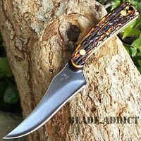 "7"" STAG TACTICAL SURVIVAL Skinning KNIFE Hunting Skinner Camping Fixed Blade"