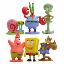 6pcs Set SpongeBob Squarepants Figure Patrick Star Figurine Doll Toy Cake Topper