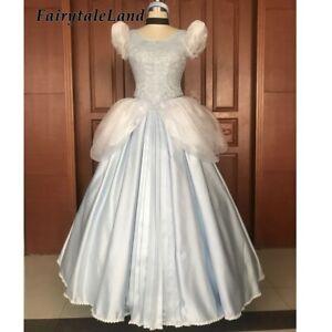 Princess Cinderella Dress High Quality Ball Gown Halloween Cosplay Costume