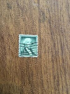 George Washington One 1 Cent Stamp US Postage Rare Green