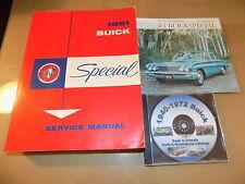 1961 Buick Special Service Manual +Brochure & Parts Catalog 3pc Set_Original!