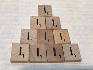 10 Scrabble Letter I Replacement Tiles or for Crafts
