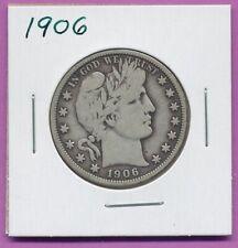 1906 50c Barber Liberty Head Morgan Half Dollar Silver US Coin Philadelphia