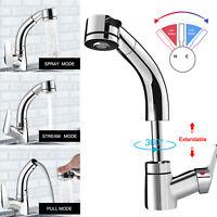 Chrome Kitchen Bathroom Faucet Sink Pull Down Handle Swivel Mixer Tap Sprayer US