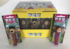 More details for box of 12 new masha and the bear pez dispensers 6 bears and 6 masha's