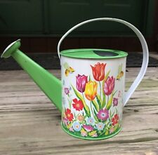 Vintage 1970s Ohio Art Tulips Bee Flowers Watering Can Tin Excellent 158F174