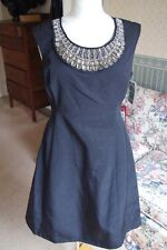 Women's Alfani Little Black Dress-Sz 8-NWT-Jewels-Bling-Holiday-Gorgeous-Formal