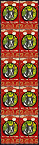 BOSTON TERRIER YEAR OF THE DOG 2018 STRIP OF 10 MINT STAMPS