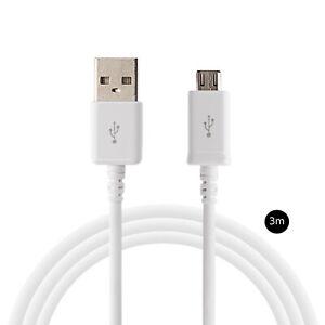 3m Micro-USB schnell Ladekabel für original Samsung Galaxy Note S4 S5 S6 S7 edge