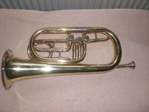 Trompete/Flügelhorn Historisch **BERLINER PUMPEN** Ø ca.13,5cm Länge ca.39 cm.