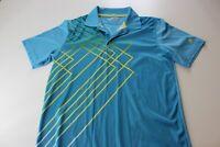 Fila Golf Sky Blue Yellow Geometric Golf GOLF POLO SHIRT Small S