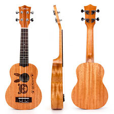 Kmise Acoustic Ukulele Uke Soprano Hawaiian Hawaii Guitar 21 Inch 12 Fret