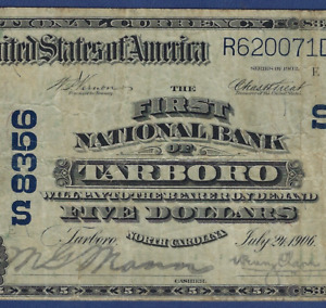 NC 1902 $5 ♚♚TARBORO, NORTH CAROLINA♚♚  PCGS VF 20   HARD TO FIND!!!
