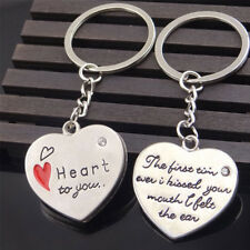 2pcs Words Phrases Love Heart Keychain Keyring Pendants Valentine's Day Gifts