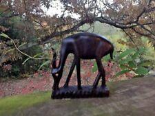 RARE African Ebony Hardwood Antelope Gazelle Impala Wood Carving Hand Crafted ❤️