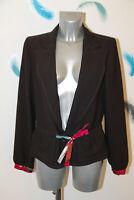 luxueuse veste prune suerte CHRISTIAN LACROIX taille 40 fr 44i EXCELLENT ÉTAT