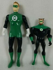 Lot of 2 Green Lantern Loose Action Figures 1 Bendy 1 Poseable Arkkis Hal Jordan