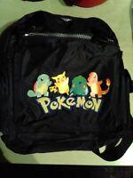 Nintendo Pokemon Backpack Rare, Original vinyl, embroidered lettering VTG 1990's