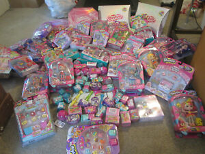 SHOPKINS SERIES SEASON 2, 5, 12 PACK HAPPY PLACE SHOPPIES DOLL COMPLETE LOT SET