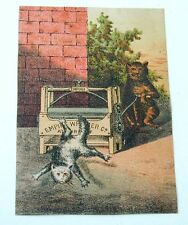 Empire Wringer Trade Card Cat Sends Another Cat Through Wringer!