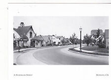 "*Postcard-""A Storybook Street""-1927-(Homes w/Radio Antennas)-*Modesto, Ca.(#104)"