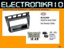 MARCO Soporte Radio KIA PICANTO 07 + CONEXION ISO Plata/Negro