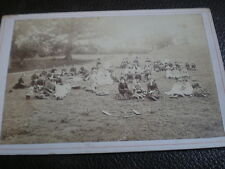 Cdv cabinet photograph Rievaulx Sunday School Outing At Arden Side Hawnby 1892