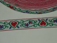"""Embroidered heart trimming cotton fabric white floral trim by the yard x 15/16"""""""