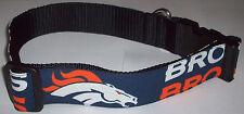 Denver Broncos Dog COLLAR X-Large Pro Football Fan Game Gear NFL Shop Team XL CO