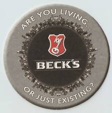 8 Diff Beck's Are You Living or Just Exhisting Coasters