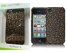 FUNDA iPhone 4/4s Case Mate IVY Negra-oro