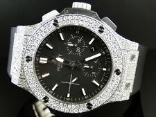 Mens Brand New Custom Hublot Big Bang 44 Mm Genuine Diamond Watch 10.5 Ct