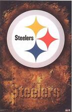 2001 Pittsburgh Steelers Logo Original Starline Poster OOP