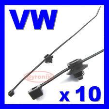 VW CABLE TIES ZIP TIE WRAP WIRING LOOM HARNESS ELECTRICAL BLACK NYLON 200 x 4.6