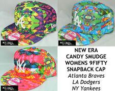 NEW ERA WOMENS CANDY SMUDGE MLB 9FIFTY SNAPBACK CAP - ATLANTA/LA/NY