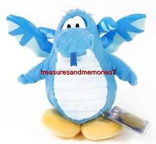 Disney CLUB PENGUIN INCLUDES Coin & Code & Tags - BLUE DRAGON Plush