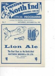 Preston North End v Ipswich Town 1967/68 Division 2