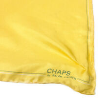 """Vintage CHAPS by Ralph Lauren Quality Yellow Silk Scarf 18"""""""