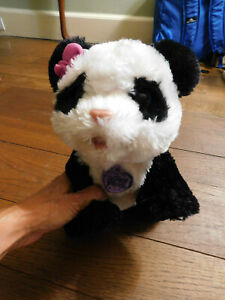 "FurReal Friends Pom Pom Baby Panda Bear Plush Interactive Pet Hasbro 12"" walks"