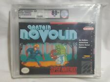 NEW Captain Novolin Super Nintendo Game VGA 80+ NM Silver diabetes SNES US -READ