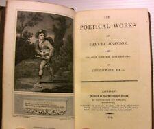 1811 JOHNSON + WARTON POETICAL WORKS GRAVURES LIVRE BOOK LITTERATURE BRITISH