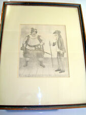 Original 1784 Engraving-Britain-JOHN KAY-Sir John's Nose-Comic Caricature-Framed
