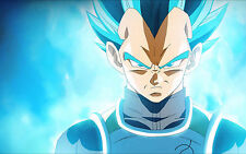 Poster A3 Dragon Ball Super Vegeta Super Saiyan God Blue 02