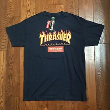 New Thrasher Magazine Flame Logo T-Shirt Tee SS 2016 Sold at Supreme Size L