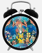 "Pokemon Pikachu Alarm Desk Clock 3.75"" Home or Office Decor E373 Nice For Gift"